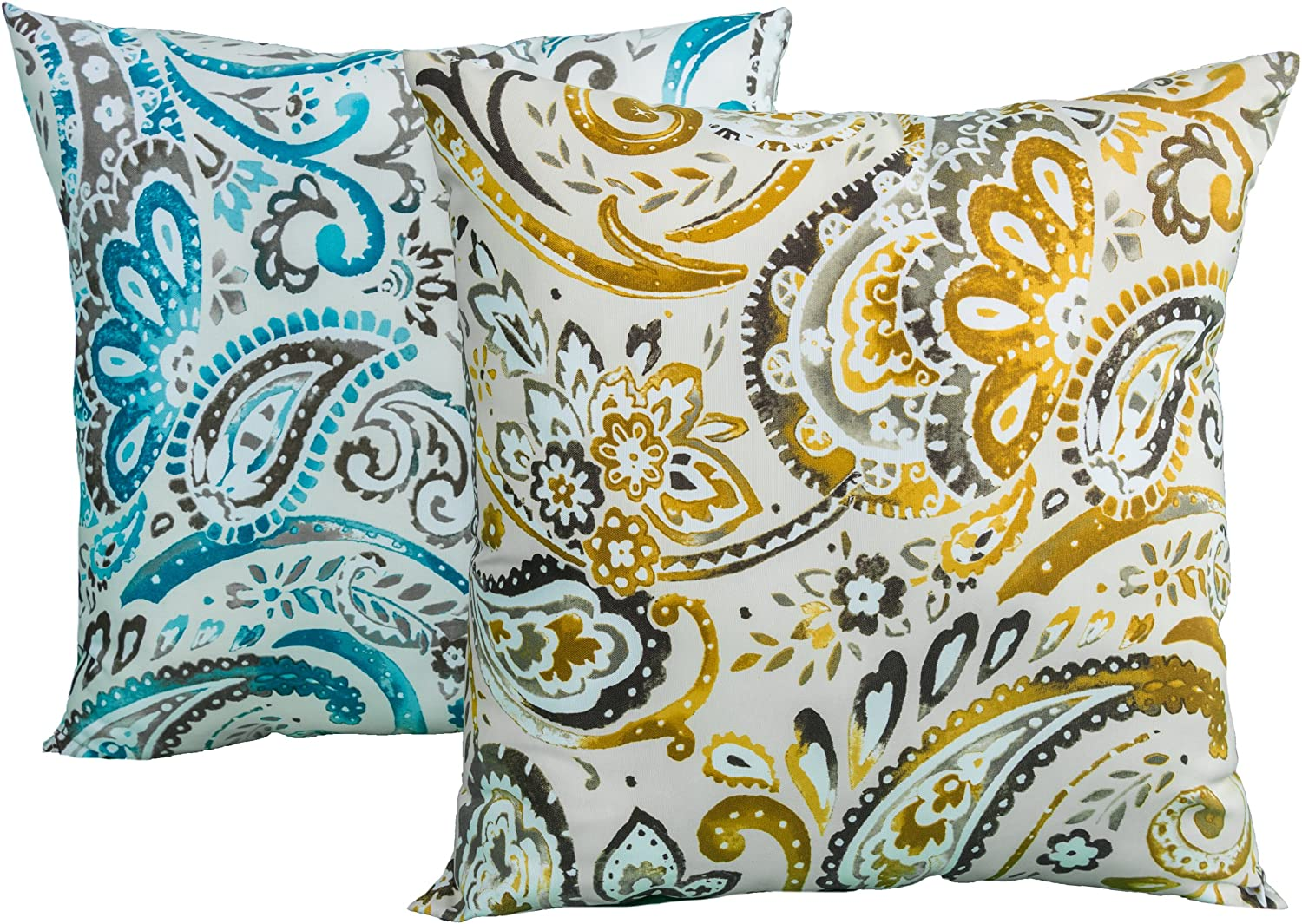 Rizzy Home TFV021 Prefilled with Knife Cut Edges Printed on Both Sides Decorative Pillow, 22 by 22-Inch, Starlight