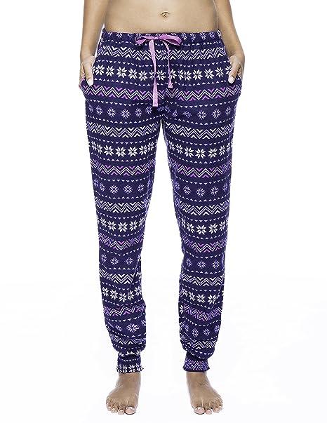 Pantalón Pijama Jogging de Franela - Nieve Nórdico Azul - XL