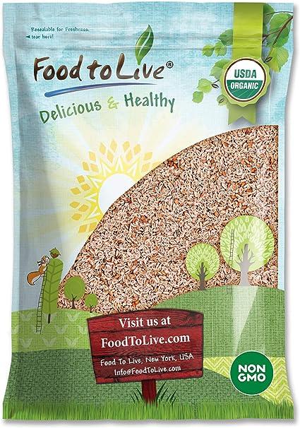 Organic Whole Psyllium Seeds, 5 Pounds - Non-GMO, Vegan, Kosher, Keto Friendly, Raw, Bulk, Rich in Iron, Natural Food Thickener