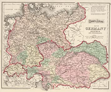 Amazon world atlas 1874 germany austria and switzerland world atlas 1874 germany austria and switzerland historic antique vintage map gumiabroncs Image collections