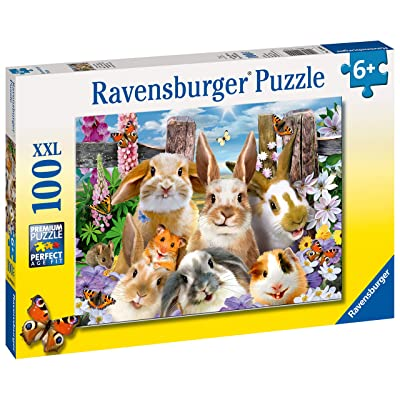 Ravensburger 10949 Rabbit Selfie XXL 100pc Jigsaw Puzzle, Multicoloured: Toys & Games