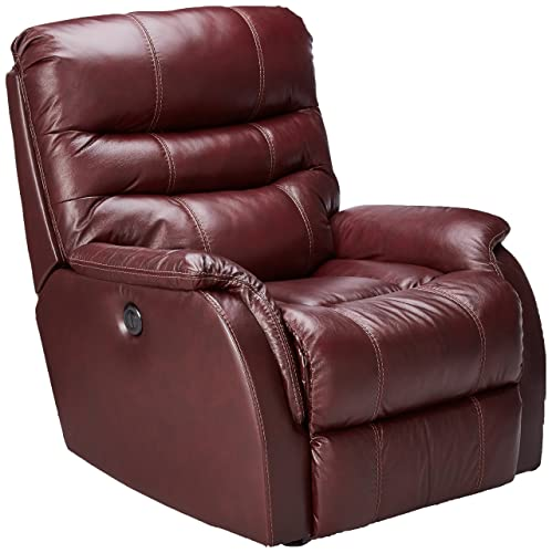 Ashley Bridger Leather Power Rocker Recliner in Roma