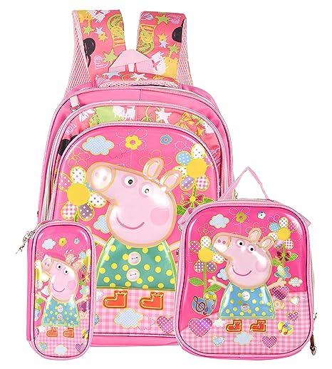 Peppa Pig Cute Cartoon Child Bag Toys Boys Girls Kids School Lunch Book Bag Trav