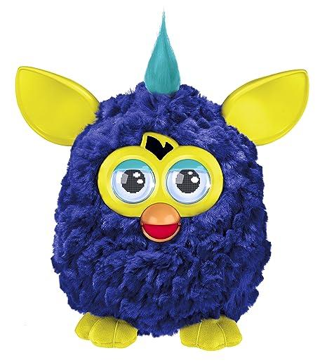Furby - Mascota electrónica (habla español), color azul marino (Hasbro A3123500)