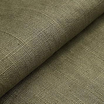 Auténtico Lino Ecológico BASIC - Tela de lino natural y pura - Por metro (Verde oliva): Amazon.es: Hogar