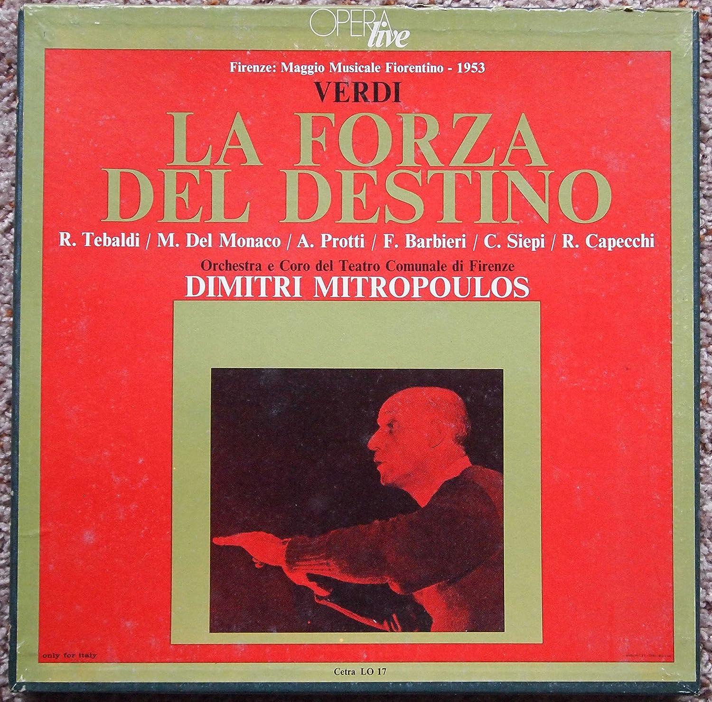 Verdi: La Forza del Destino - Dimitri Mitropoulos (1953) (LP Record Box)