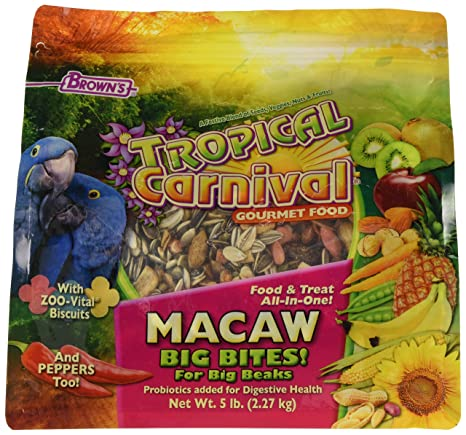07b79f89ddcf F.M. Brown'S Tropical Carnival Gourmet Macaw Food Big Bites For Big Beaks -  Vitamin-Nutrient