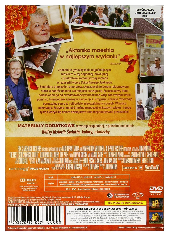 The Best Exotic Marigold Hotel DVD Region 2 English audio