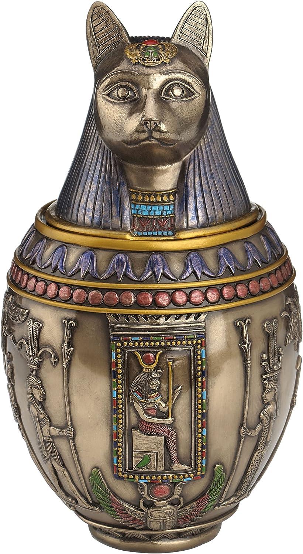 Veronese /Ägyptische Kanope Statue Skulptur katze