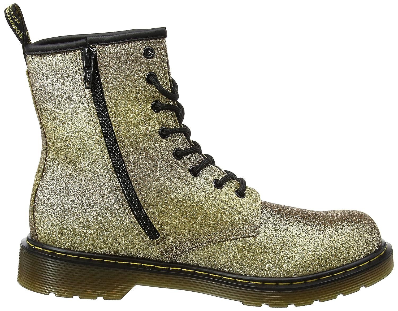 Martens Unisex Kids Delaney Y GLTR Gold Multi Glitter Pu Boots Dr