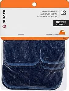 Iron-On Patch Repair Kit 12/Pkg-Assorted Denim