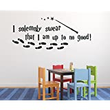 """I Solemnly Swear that I am Up to No Good Harry Potter Door Decor - Wall Decal Vinyl Sticker W22 48""""x20"""" (Message for Color)"""