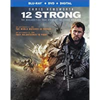12 Strong (Uncut) [Blu-ray + DVD + Digital HD] (2018) | Imported from USA | Region Free | 130 min | Warner Bros | Action History | Director: Nicolai Fuglsig| Starring: Chris Hemsworth