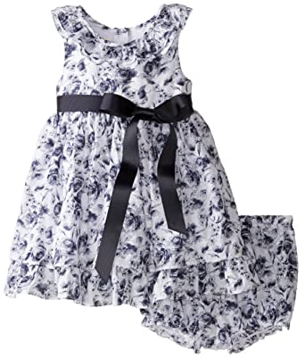 Laura Ashley London Baby Girls Floral Ribbon Belt Dress Amazon In
