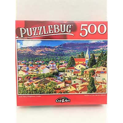 Aerial View of Rogoznica, Croatia - 500 Pieces Jigsaw Puzzle: Toys & Games