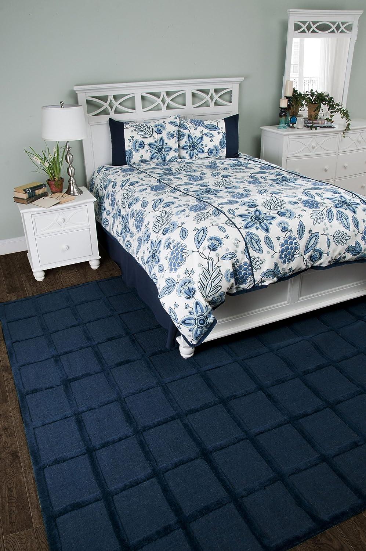 Queen Rizzy Home Fresh Air Navy 3-Piece Comforter Set
