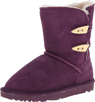 Toddler//Little Kid UBELLA Girls Faux Fur Ball Fleece Lined Side Zipper Winter Warm Ankle Boots