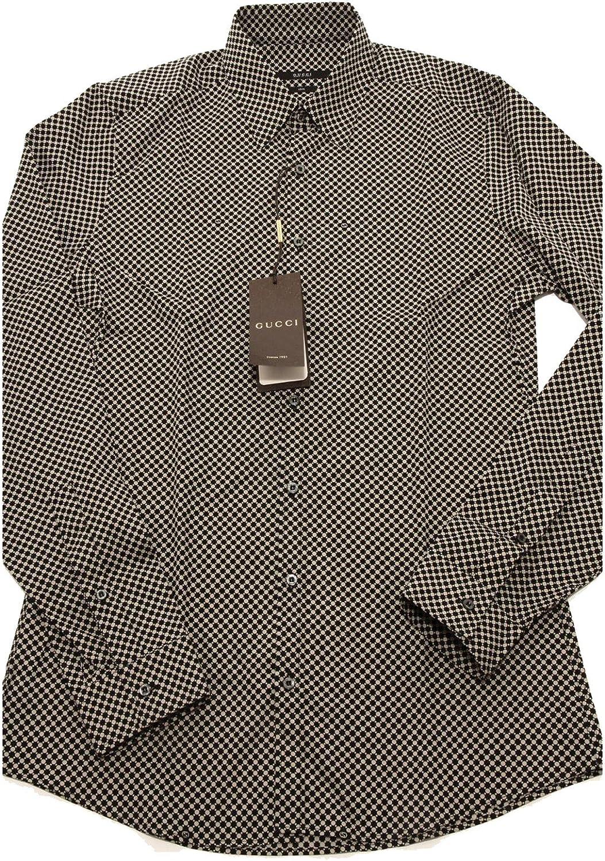 Gucci - Camisa Casual - para Hombre Negro/Azul Claro 40 ...