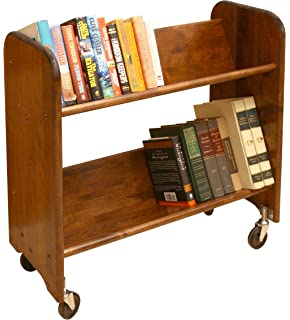 catskill craftsmen rolrack with tilted shelves walnut stained birch