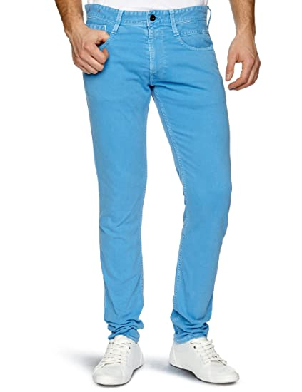 e06bed00 Replay Anbass 1 Slim Men's Jeans Blue W36INxL32IN: Amazon.co.uk: Clothing
