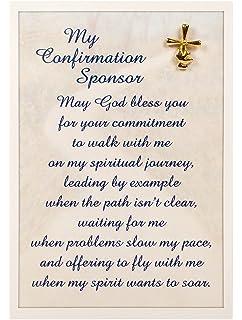 amazon com confirmation sponsor gift sponsor thank you poem in