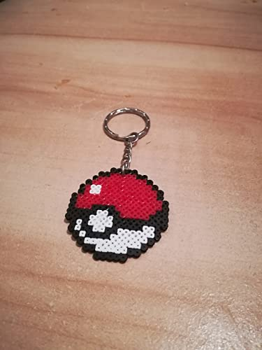 Pixel Art Perler Beads Schlüsselanhänger Pokemon Pokeball Amazon De