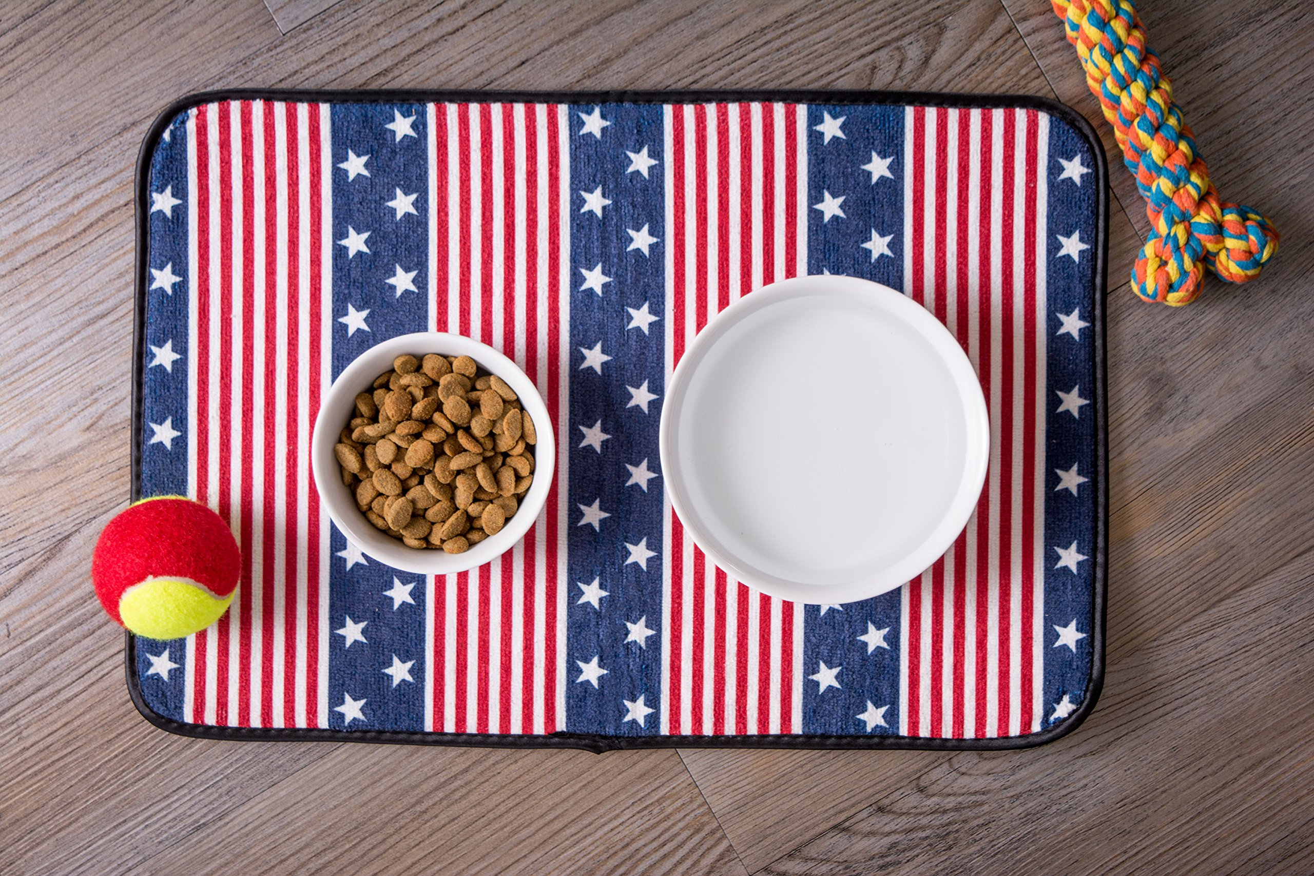 Bone Dry DII Patriotic Ceramic Pet Bowl for Food & Water with Non-Skid Silicone Rim for Dogs and Cats (Large - 7.5'' Dia x 4'' H) Stars and Stripes by Bone Dry (Image #8)