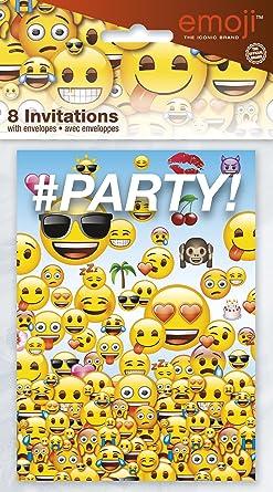 Unique Party Emoji Papel Invitaciones Para Fiestas Pack De 8
