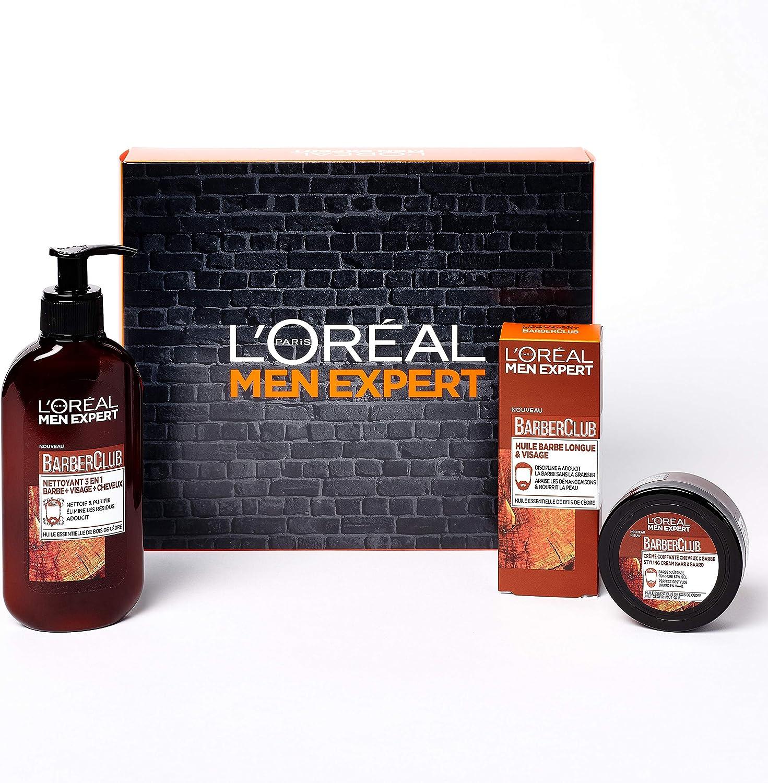 LOréal Men Expert - Coffret Saint Valentin Barber Club 3 produits soin de la barbe: Amazon.es: Belleza