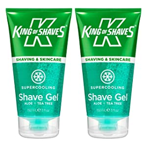 King of Shaves Supercooling Shaving Gel 5 fl.Oz / 150ml (x2) TWIN-PACK