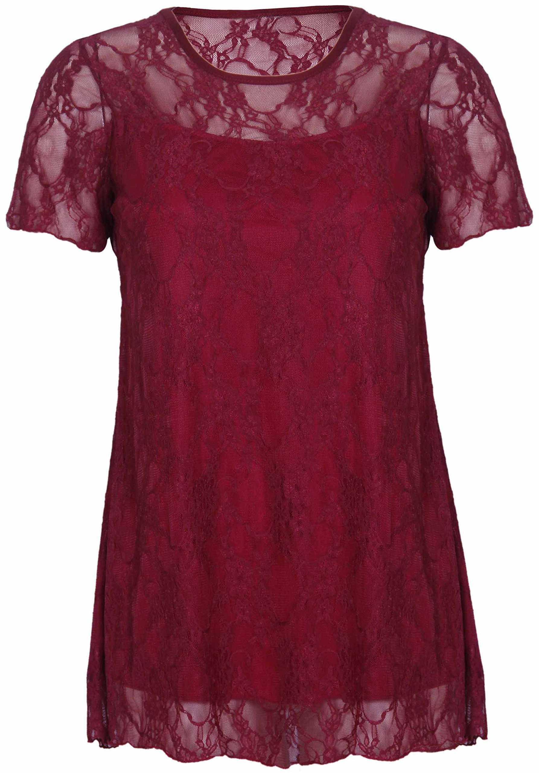 ad36f0e931cf02 Ladies Burgundy Tops Uk