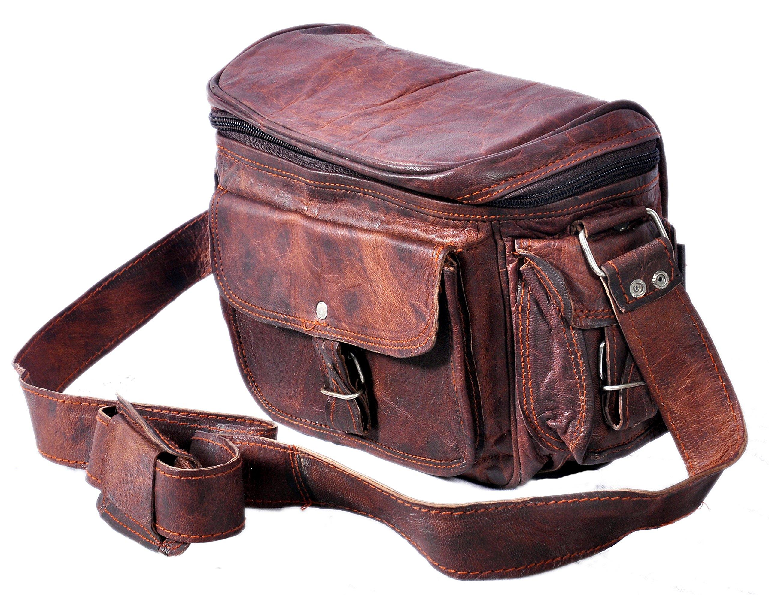 QualityArt Real Leather camera bag Women camera Satchel Travel Camera Case Women Purse 9x7x5