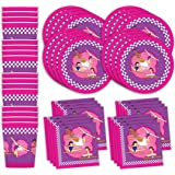 Bestie Planet Gymnastics Party Supply Set - Cups, Napkins, & Plates - 48 Total Pieces - Great For Birthdays, Banquets, & Celebrations