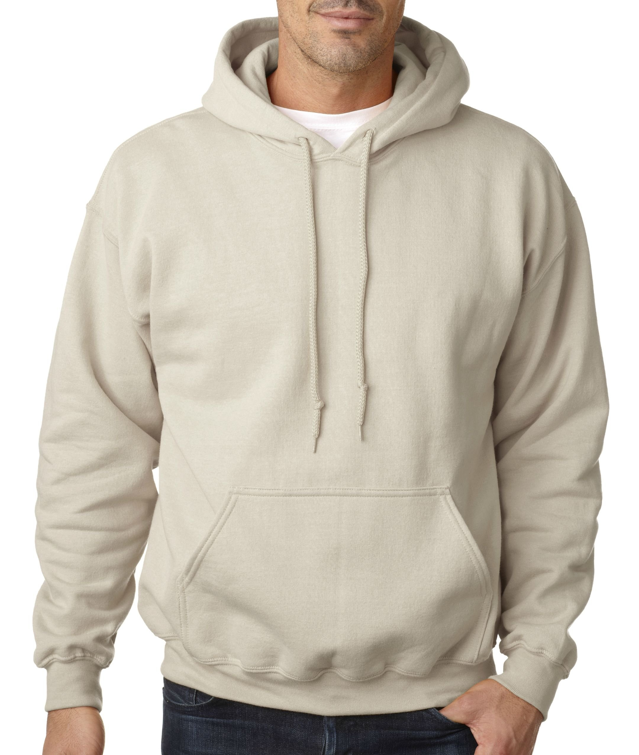 Gildan Adult Heavy Blend� Hooded Sweatshirt (Sand) (Medium) by Gildan