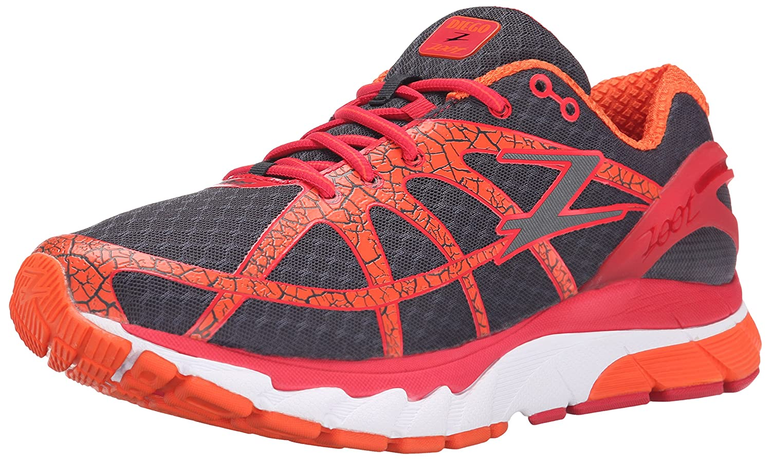 Zoot Men's Diego Running Shoe B00SRV06Y4 8.5 D(M) US|Solar Flare/Pewter/Zoot Red