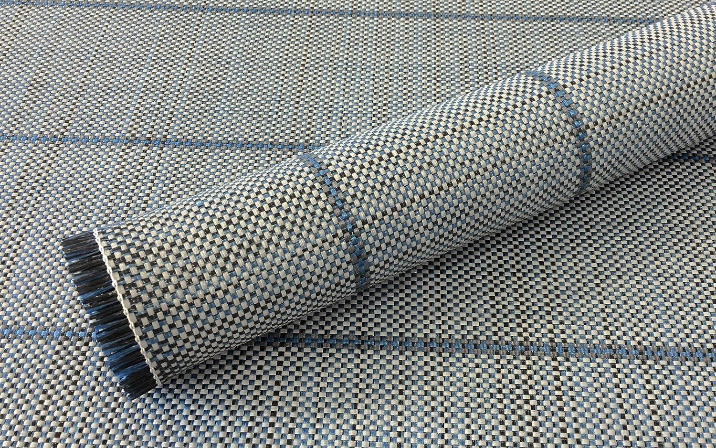 Berger Vorzelt Teppich blau WetterBesteändig Vorzeltteppich mit Tragetasche für Zelte, Balkone, Terrassen
