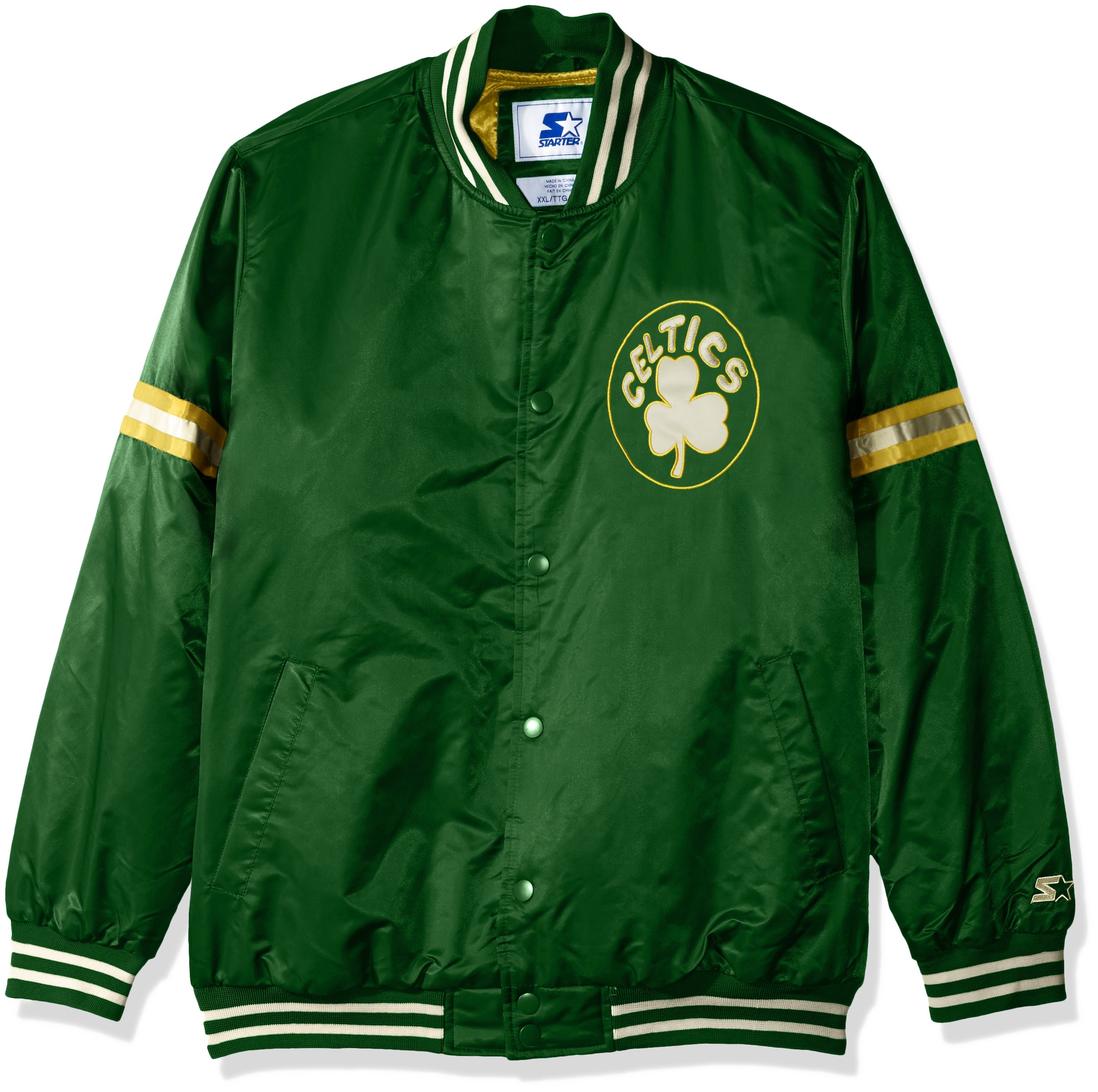 STARTER NBA Boston Celtics Men's Legecy Retro Satin Jacket, 3X, Green