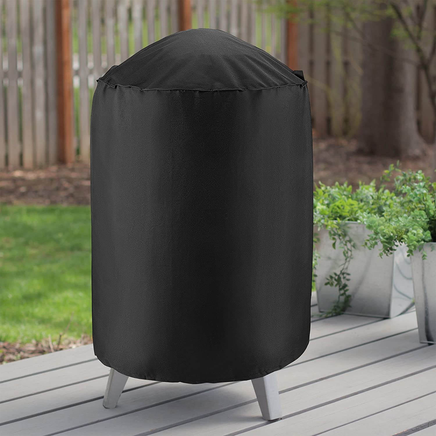 Durable and Convenient 23 Dia by 25 H Smoker Cover Fit Grill//Smoker for Weber Char-Broil and More Fade Resistant Material Charcoal Grill Cover UNICOOK Heavy Duty Waterproof Kettle Grill Cover