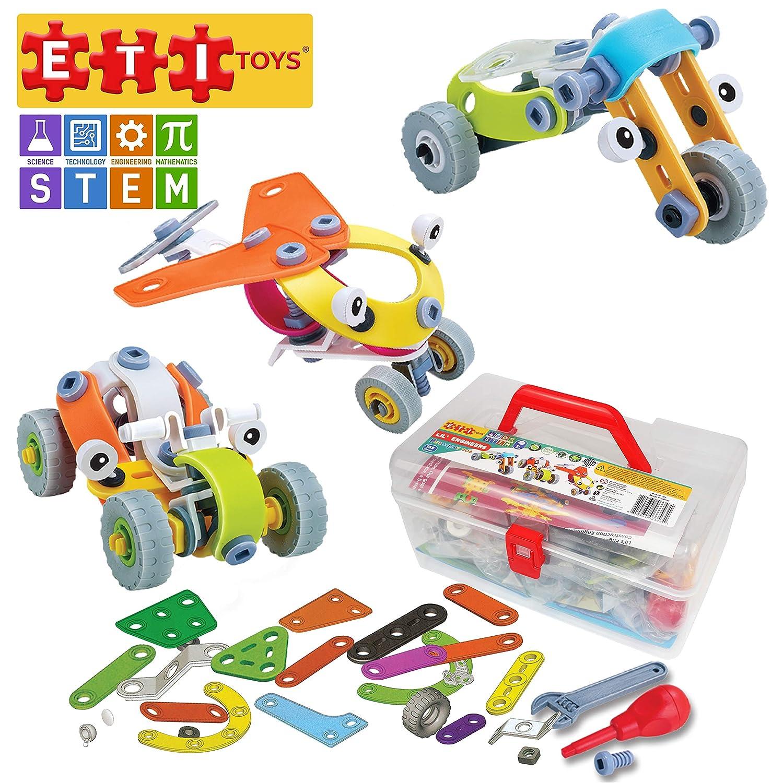 ETI Build Toys(エティ) STEM学習 自動車 163ピース Lil' Engineers 三輪車 Build & Play 3車両ビルディングブロック 自動車 飛行機 三輪車 クリエイティブなスキルが開発されました。 8、9、10歳の男の子と女の子向けギフトおもちゃ。 B07J1DCB4R, 石垣市特産品販売センター:71e3cd6f --- number-directory.top