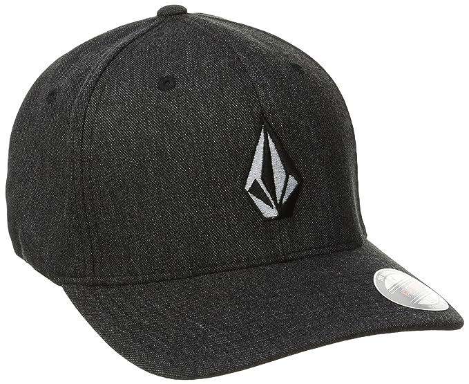 premium selection d5ea9 e4795 Volcom Men s Full Stone Heather Xfit Hat, Charcoal Heather, Small Medium