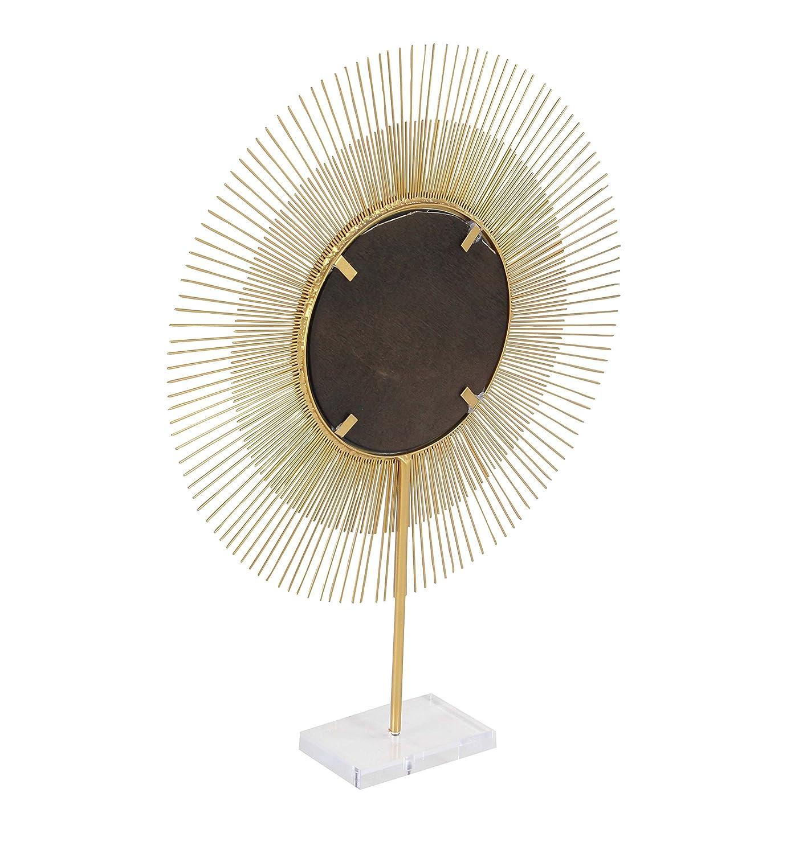 Kess InHouse Anneline Sophia Dotty Papercut Orange Circles Teal Wall Clock 12 Diameter
