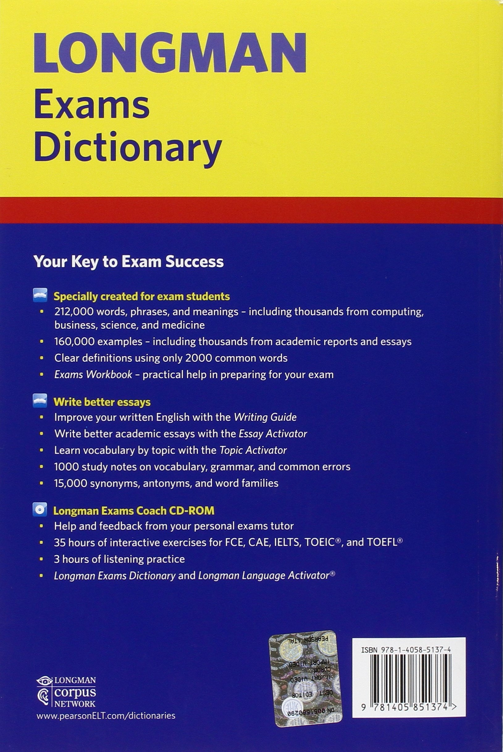 longman exams dictionary update l exams dictionary co longman exams dictionary update l exams dictionary co uk pearson education 9781405851374 books