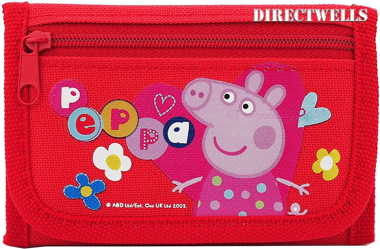 Pink Peppa Pig Character Authentic Licensed Children Trifold Wallet