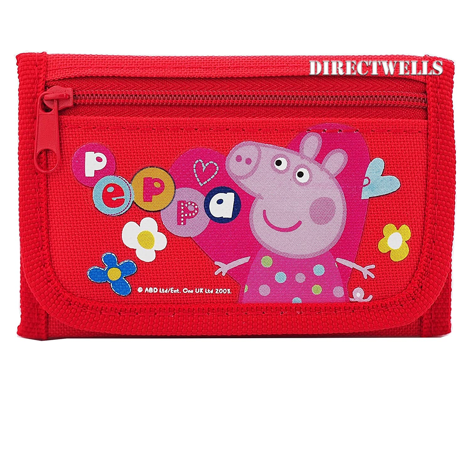 Peppa Pig Character Authentic Licensed Children Trifold Wallet Entertainment One