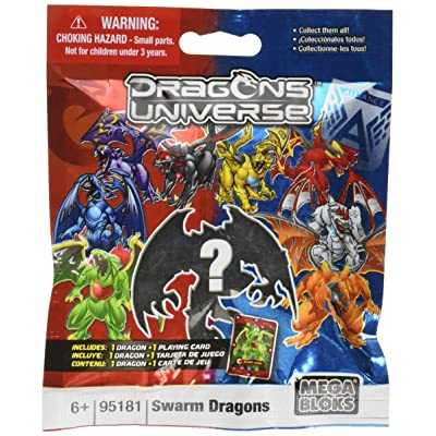 Mega Bloks Dragons Universe Series 2 Swarm Dragons Minifigure Mystery Pack #95181: Toys & Games