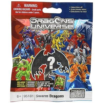 Mega Bloks Dragons Universe Series 2 Swarm Dragons Minifigure Mystery Pack #95181: Toys & Games