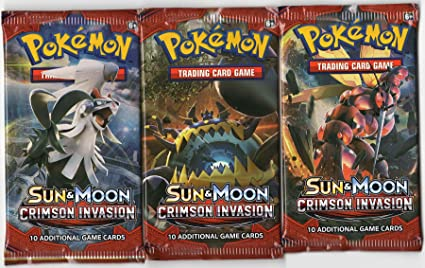 Pokemon Sun /& Moon Crimson Invasion Booster