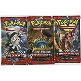 Pokemon - Sun and Moon Crimson Invasion Booster Pack - Set of 3