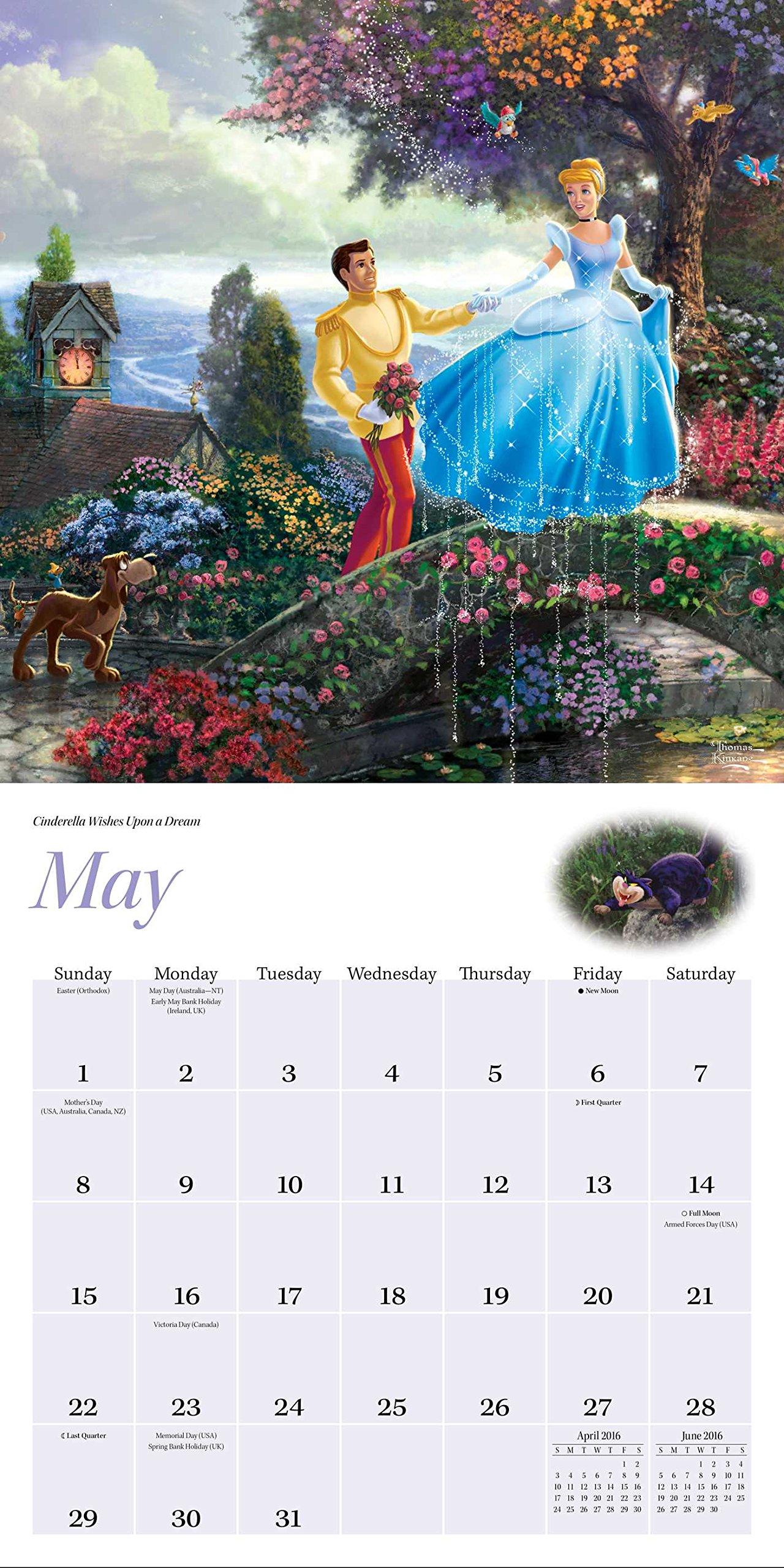 The Disney Dreams Collection 2018 Wall Calendar Thomas Kinkade
