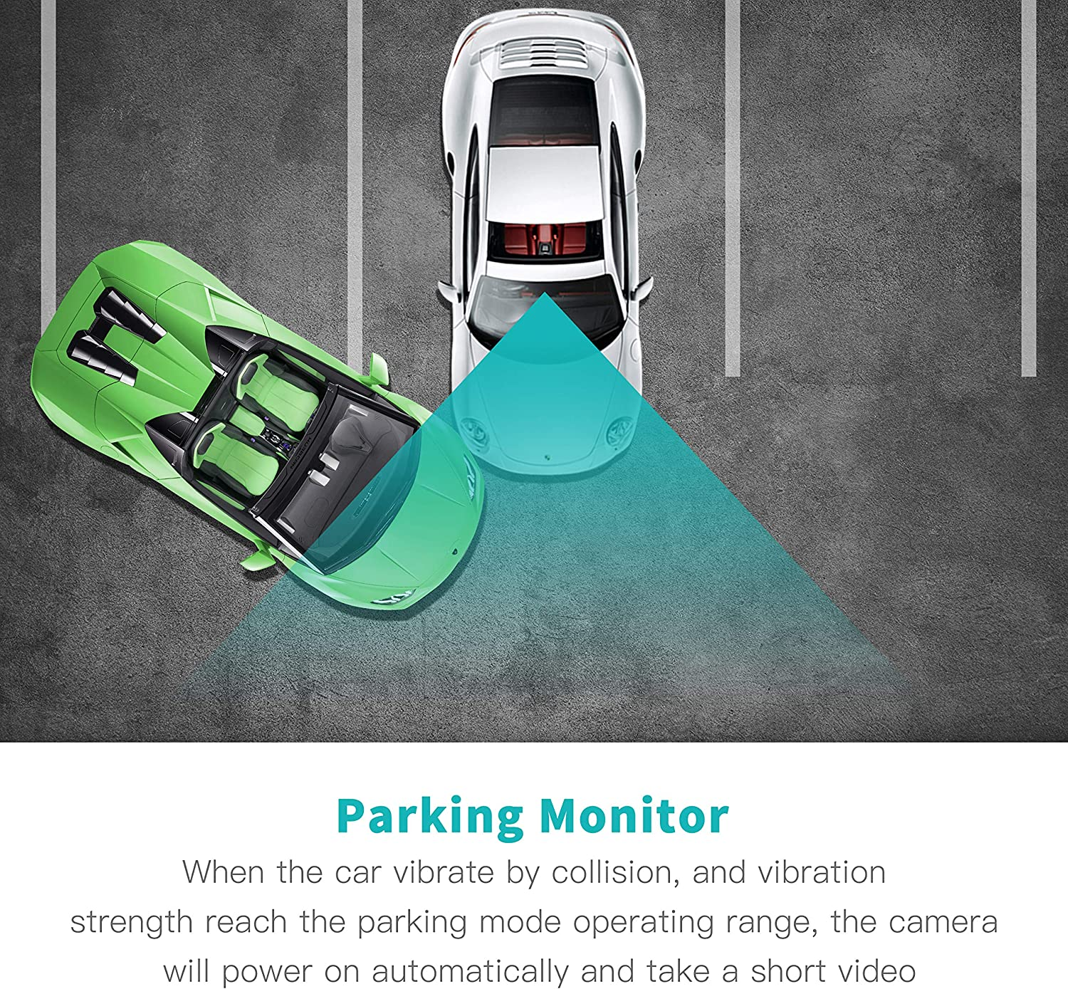 """24 Hours Parking Monitor TOGUARD Dual Dash Cam Front and Rear Night Vision 1080P Car Camera and 720P Rear View Backup Camera 170/° Wide Angle 3.0/"""" LCD"""